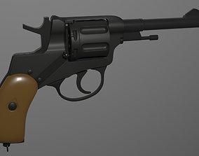 Nagant Revolver Gun 3D
