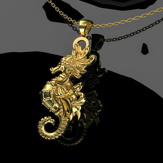Sea Horse Pendant Jewelry 3D print model
