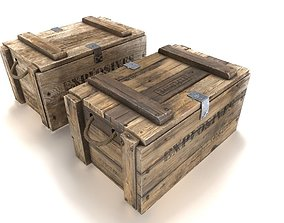 Explosives crate 3 PBR 3D asset realtime