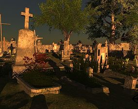 3D model realtime Cemetery Package