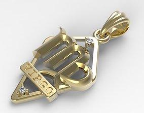 precious 3D print model JPendant12 Virgo