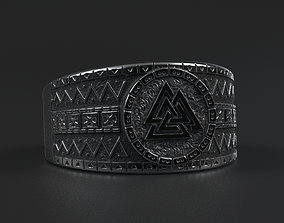Viking Valknut Ring for 3d printing