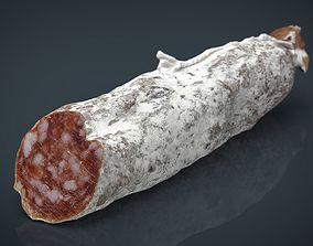3D model Spanish fuet salami