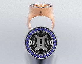 Zodiac Ring gem 3D printable model