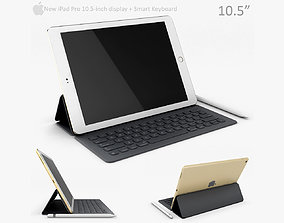 3D model Apple iPad Pro 10 5 Inch with smart keyboard