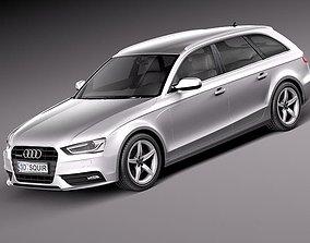 fbx 3D model Audi A4 Avant 2013