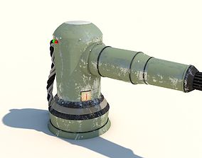 OLD SENTRY GATLING GUN AUTOMATIC 3D model