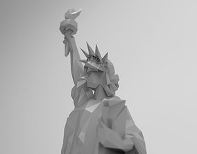 Statue of Liberty triangulated low poly 3D printable model
