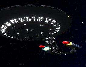 STAR TREK - USS ENTERPRISE NCC1701D 3D model