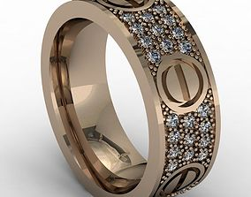 Fashion and beauty wedding band 3D print model