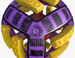 Sci Fi Ball Low Poly 3D asset