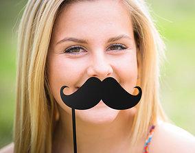 stick 3D print model Mustache Mustache Stick