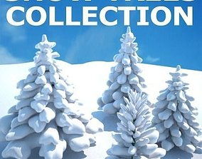 3D Snow Covered Trees