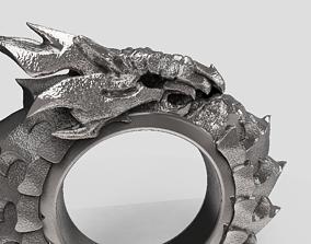 Bone dragon ouroboros 3D print model chinese