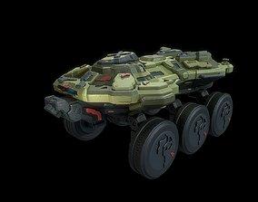 3D model Sci fi pathfinder rover vehicle