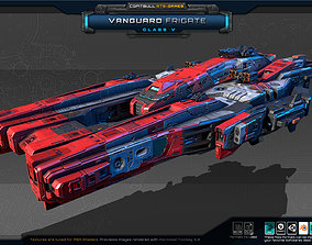 3D asset realtime NEXTGEN - Vanguard Frigate - Class V