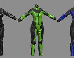 3D model sci-fi female suit