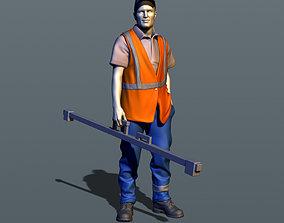 Railroad worker 3D print model