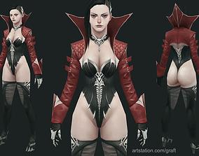 3D model Vampire lady