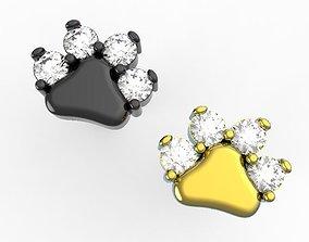 3D print model Paw earrings Studs earrings