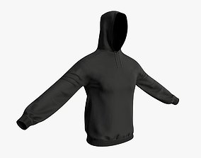 3D asset Hooded Sweatshirt