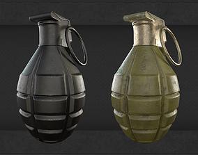 3D model game-ready Frag grenade