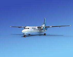 3D Fokker 50 Devonair