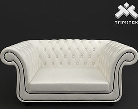 furnishing 2 seat Chesterfield style sofa 3D model