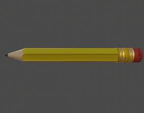 3D asset game-ready Dwarf Pencil