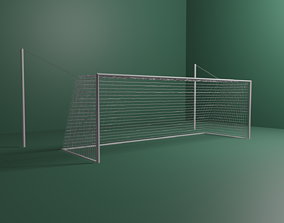 3D model Football Goal with FIFA Dimensions