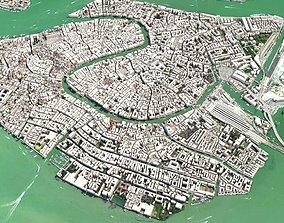 Cityscape Venice Italy highlands 3D model