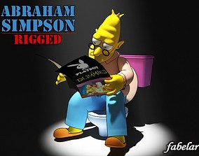 3D Abraham Simpson rigged