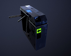 Ticket Gate - Low Poly - PBR 3D asset