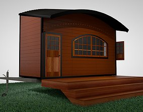 3D Tiny Home Mobile Trailer Popup
