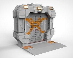sci fi door 10 3D model