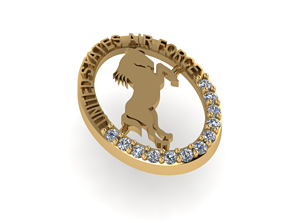 jewelry Logo horse 3D print model