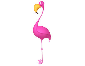 Flamingo cartoon 3D