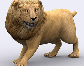 animated low-poly 3DRT - Lion