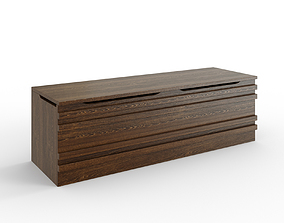 3D model realtime MATHOPEN Bench medium brown
