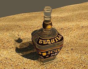 3D model tequila bottle