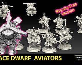 Space Dwarf Aviators ROYALTY FREE 3D printable model