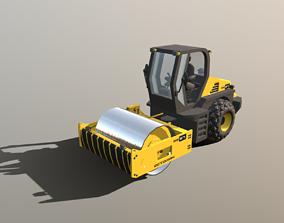 Road Roller - RR57 3D asset