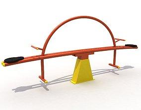 3D model Metal Game Equipments 02 - Seesaw