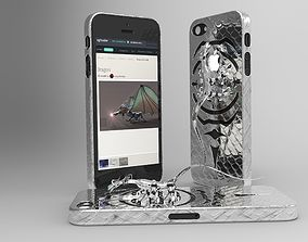 iPhone 5 Dragon cover 3D printable model