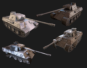 VR / AR ready Panther Germany PBR Unity Game Ready tank