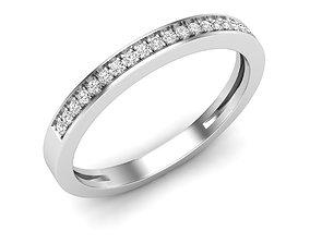 3D print model Diamond Anniversary Wedding Band for woman