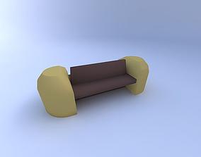 Bench 3D model bench relax