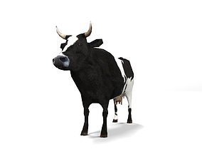 Lowpoly Cow 3D asset