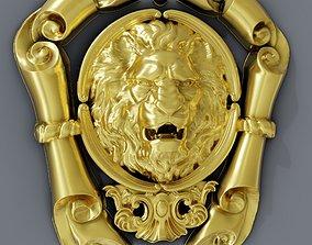 Classic baroque cartouches onlay element 3D print model 2