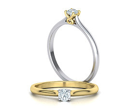 Solitaire Engagement ring Heart design head